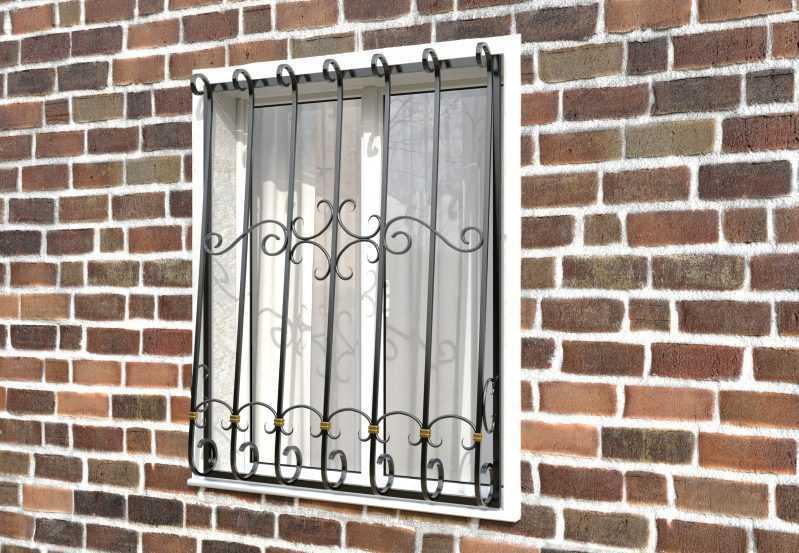 Фото 2 - Дутая решетка на окна ДТ0037.