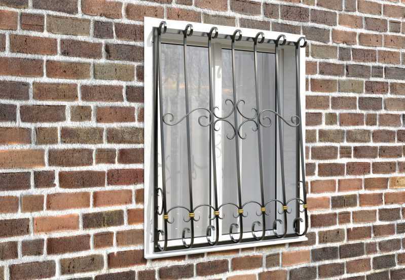 Фото 3 - Дутая решетка на окна ДТ0037.