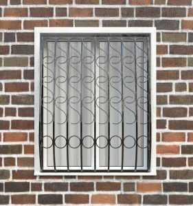 Фото 65 - Дутая решетка на окна ДТ0033.