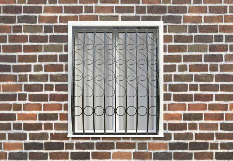 Фото 1 - Дутая решетка на окна ДТ0033.
