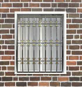 Фото 87 - Дутая решетка на окна ДТ0044.