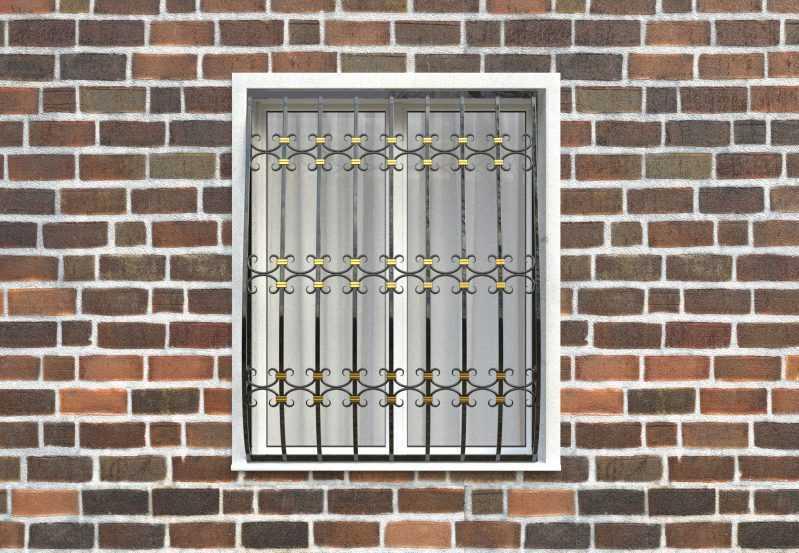 Фото 1 - Дутая решетка на окна ДТ0044.