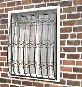 Фото 88 - Дутая решетка на окна ДТ0044.