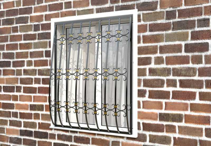 Фото 2 - Дутая решетка на окна ДТ0044.
