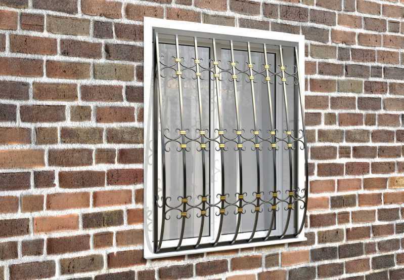 Фото 3 - Дутая решетка на окна ДТ0044.