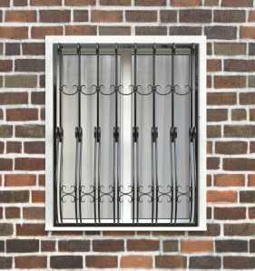 Фото 51 - Дутая решетка на окна ДТ0026.