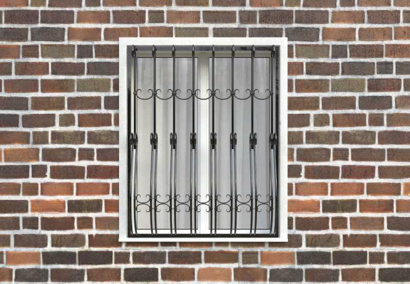 Фото 1 - Дутая решетка на окна ДТ0026.