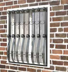 Фото 52 - Дутая решетка на окна ДТ0026.