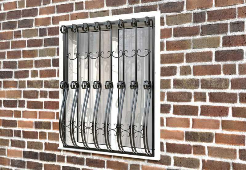 Фото 2 - Дутая решетка на окна ДТ0026.