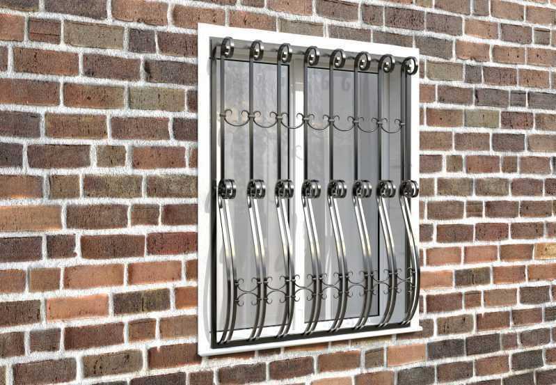 Фото 3 - Дутая решетка на окна ДТ0026.