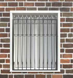 Фото 114 - Дутая решетка на окна ДТ0029.