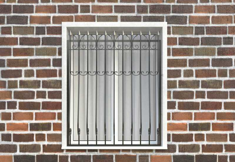 Фото 1 - Дутая решетка на окна ДТ0029.