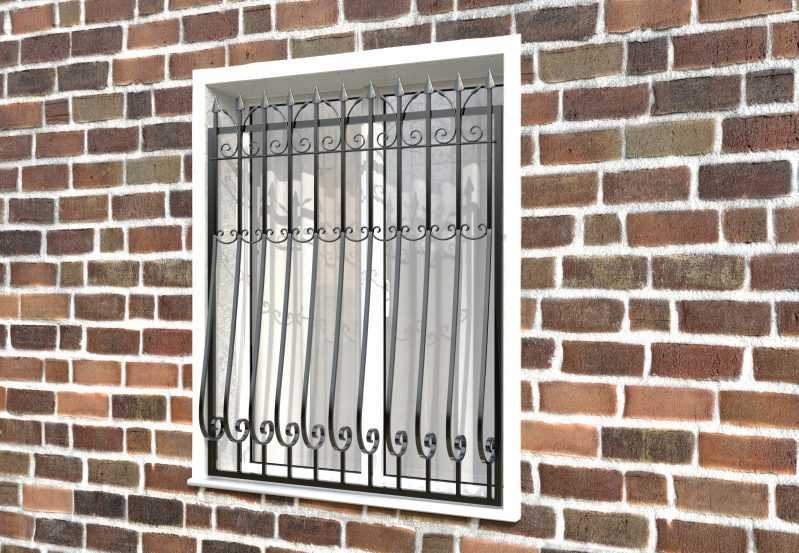 Фото 2 - Дутая решетка на окна ДТ0029.