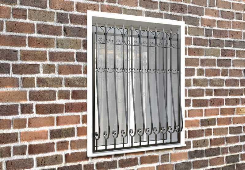Фото 3 - Дутая решетка на окна ДТ0029.