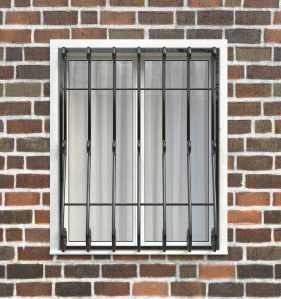 Фото 51 - Дутая решетка на окна ДТ0027.