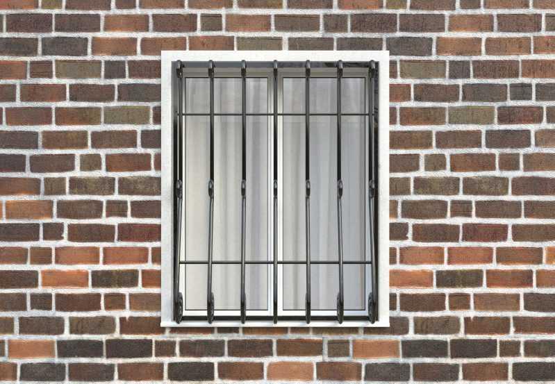 Фото 1 - Дутая решетка на окна ДТ0027.