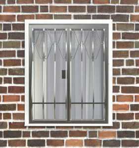 Фото 14 - Дутая решетка на окна ДТ0002.