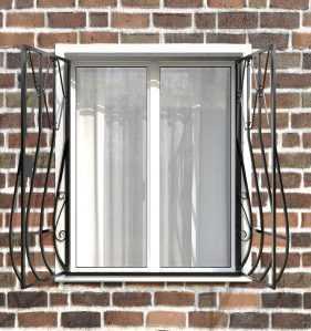 Фото 15 - Дутая решетка на окна ДТ0002.
