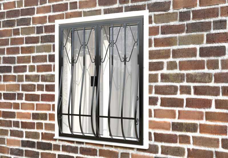 Фото 3 - Дутая решетка на окна ДТ0002.