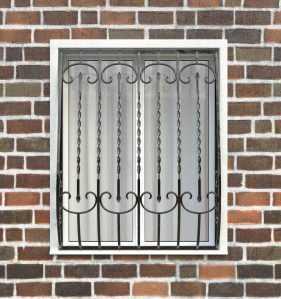 Фото 59 - Дутая решетка на окна ДТ0030.
