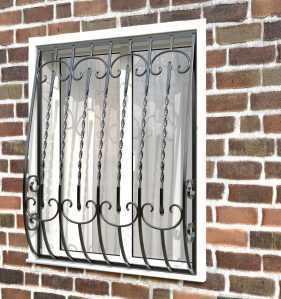Фото 60 - Дутая решетка на окна ДТ0030.