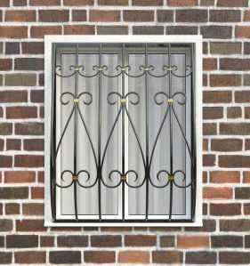 Фото 63 - Дутая решетка на окна ДТ0032.