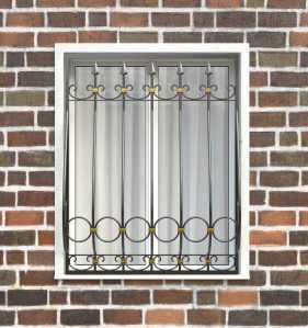 Фото 83 - Дутая решетка на окна ДТ0041.