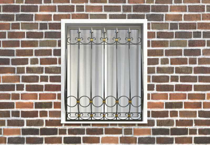 Фото 1 - Дутая решетка на окна ДТ0041.