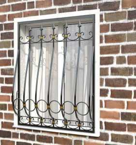 Фото 84 - Дутая решетка на окна ДТ0041.