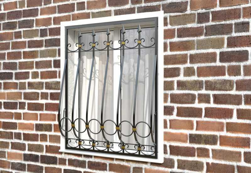 Фото 2 - Дутая решетка на окна ДТ0041.