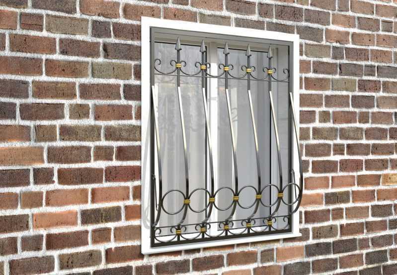 Фото 3 - Дутая решетка на окна ДТ0041.