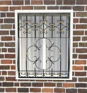 Фото 85 - Дутая решетка на окна ДТ0042.