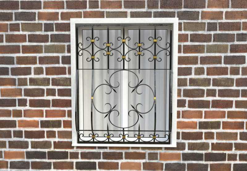Фото 1 - Дутая решетка на окна ДТ0042.