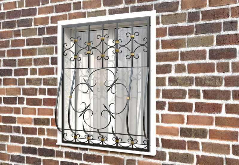 Фото 2 - Дутая решетка на окна ДТ0042.