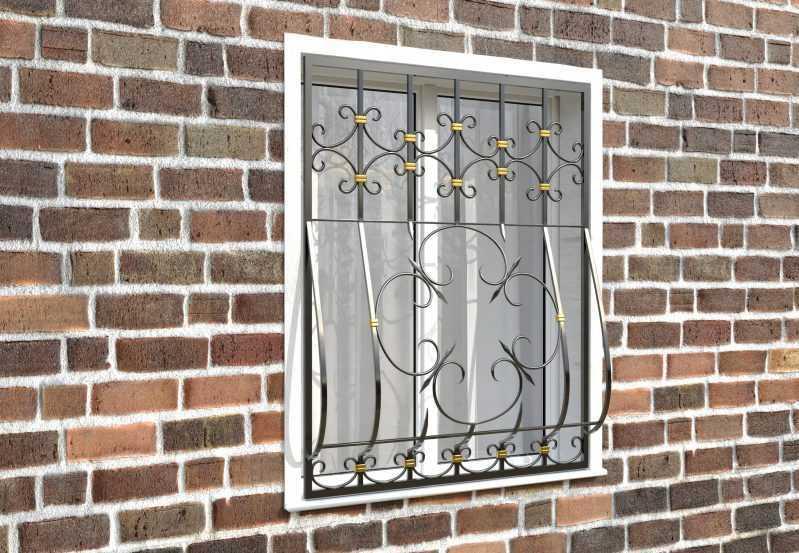 Фото 3 - Дутая решетка на окна ДТ0042.
