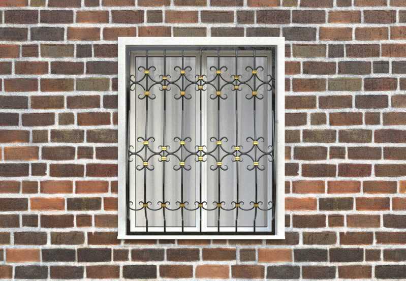 Фото 1 - Дутая решетка на окна ДТ0043.