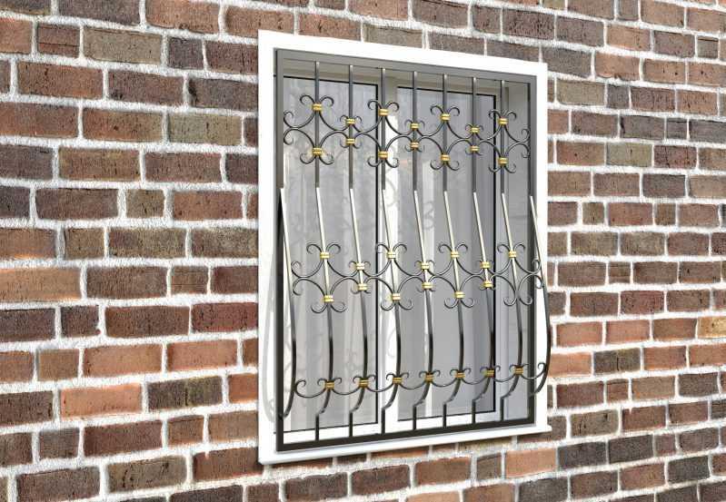 Фото 3 - Дутая решетка на окна ДТ0043.