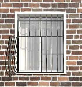Фото 9 - Дутая решетка на окна ДТ0003.