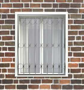 Фото 14 - Дутая решетка на окна ДТ0001.