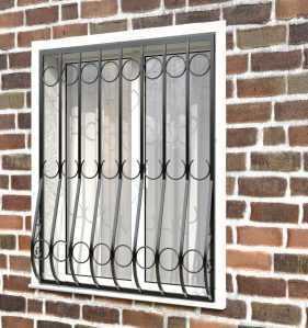 Фото 15 - Дутая решетка на окна ДТ0001.