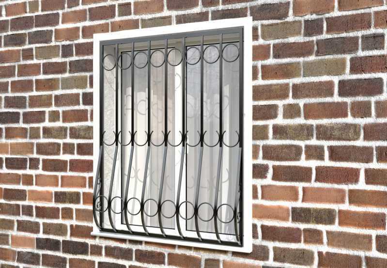 Фото 2 - Дутая решетка на окна ДТ0001.
