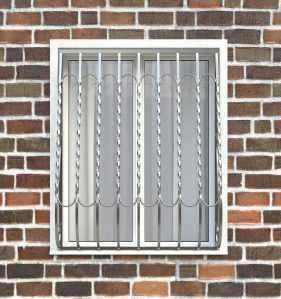 Фото 23 - Дутая решетка на окна ДТ0028.