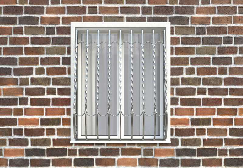 Фото 1 - Дутая решетка на окна ДТ0028.