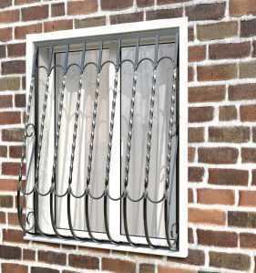 Фото 24 - Дутая решетка на окна ДТ0028.