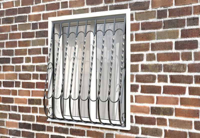 Фото 2 - Дутая решетка на окна ДТ0028.