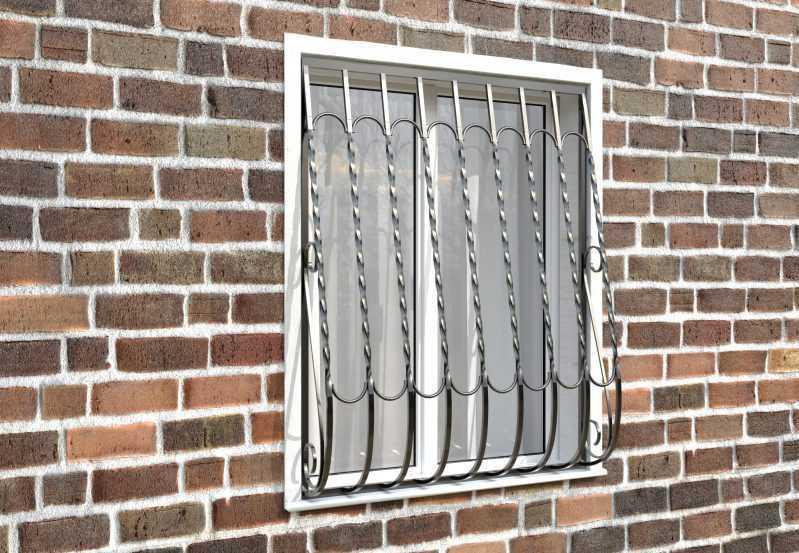 Фото 3 - Дутая решетка на окна ДТ0028.
