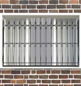 Фото 9 - Дутая решетка на окна ДТ0006.