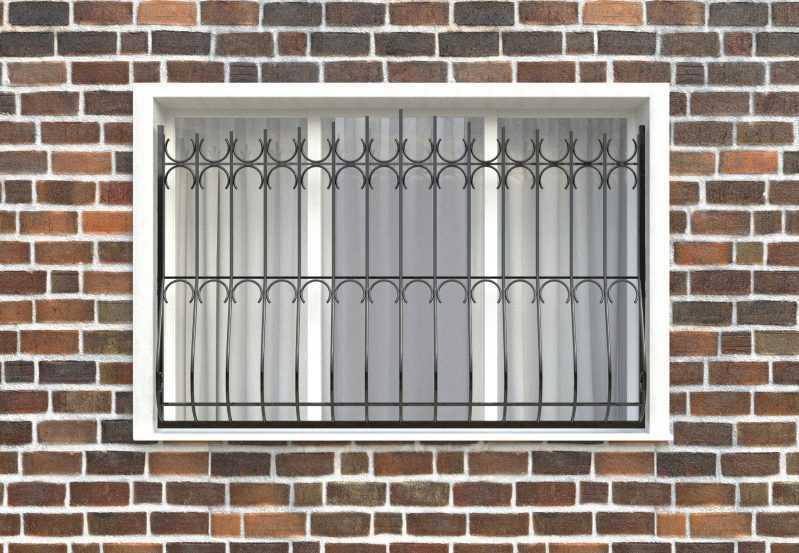 Фото 1 - Дутая решетка на окна ДТ0006.