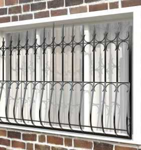 Фото 10 - Дутая решетка на окна ДТ0006.