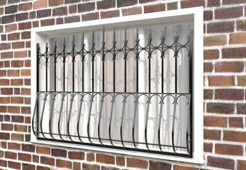 Фото 2 - Дутая решетка на окна ДТ0006.